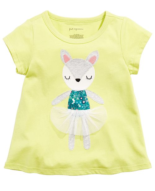 First Impressions Toddler Girls Deer Dancer Cotton T-Shirt, Created for Macy's