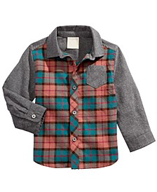 Baby Boys Tartan-Plaid Cotton Shirt, Created for Macy's