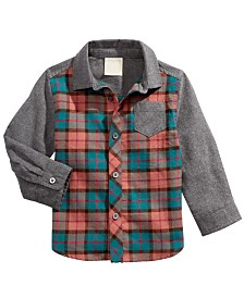 First Impressions Baby Boys Tartan-Plaid Cotton Shirt, Created for Macy's