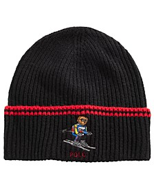 Skiing Bear Cuffed Hat