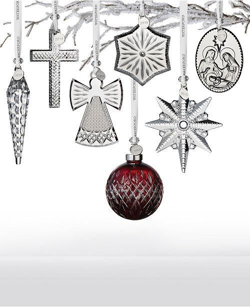 Waterford 2019 Crystal Ornament Collection; Waterford 2019 Crystal Ornament Collection ...