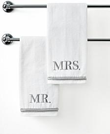 "Bath Towels, Mr. & Mrs. 16"" x 30"" Hand Towel"