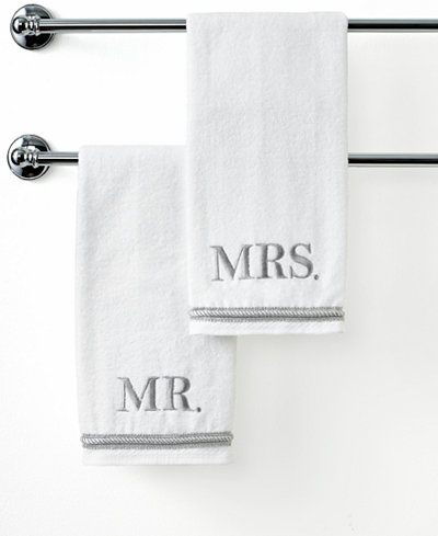 Avanti bath towels mr mrs 16 x 30 hand towel bath for Mr and mrs spa
