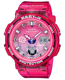 Women's Analog-Digital Aqua Planet Pink Resin Strap Watch 41mm, A Limited Edition