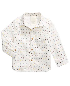 Baby Boys Cotton Printed Shirt, Created for Macy's