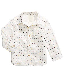 First Impressions Baby Boys Cotton Printed Shirt, Created for Macy's