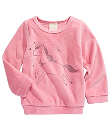 Baby Girls Unicorn-Print Velour Top, Created for Macy's