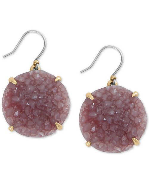 Lucky Brand Cut Stone Drop Earrings