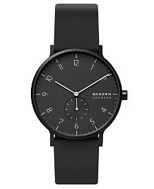 Skagen Men's Aaren Kulor Black Silicone Strap Watch 41mm