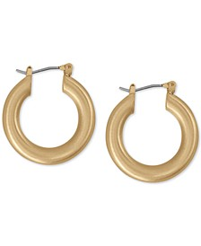 Small Tubular Hoop Earrings 1""
