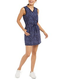 Ideology Printed V-Neck Tie Dress, Created for Macy's