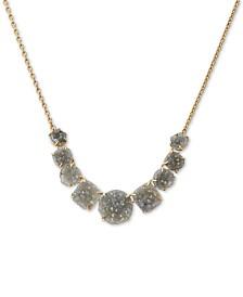 "Lucky Brand Druzy Stone Collar Necklace, 17"" + 2"" extender"