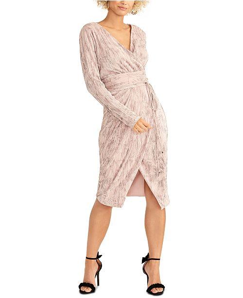 RACHEL Rachel Roy Silvia Pleated Faux-Wrap Dress
