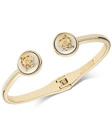 Lauren Ralph Lauren Gold-Tone & Imitation Pearl Crest Cuff Bracelet