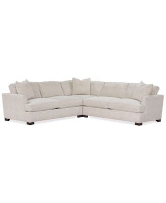 """Juliam 3-Pc. Fabric """"L"""" Shape Sectional Sofa, Created for Macy's"""