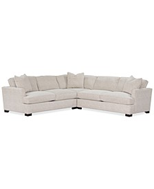 "Juliam 3-Pc. Fabric ""L"" Shape Sectional Sofa, Created for Macy's"