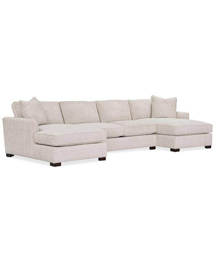 Furniture - Juliam 3-Pc. Fabric Double Chaise Sofa