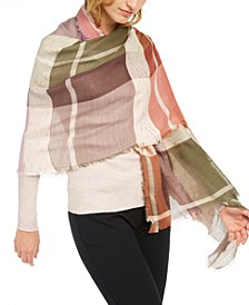 INC Touch Of Shine Plaid Wrap Scarf, Created for Macy's