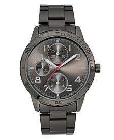 INC Men's Dark Gunmetal Gray Bracelet Watch 45mm, Created For Macy's