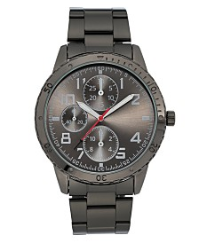 I.N.C. Men's Dark Gunmetal Gray Bracelet Watch 45mm, Created For Macy's