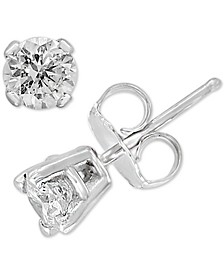EFFY® Diamond Stud Earrings (1/6 ct. t.w.) in 14k White Gold