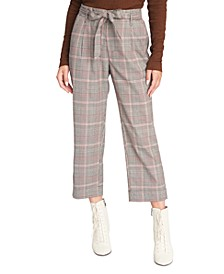 Inland Sash Plaid Capri Pants