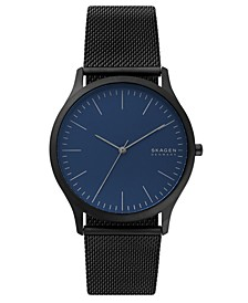 Men's Jorn Black Stainless Steel Mesh Bracelet Watch 41mm