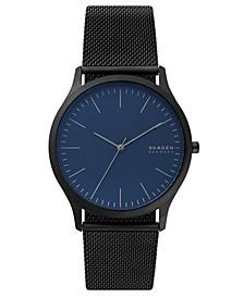 Men's Jorn Black Stainless Steel Mesh Bracelet Watch 41mm