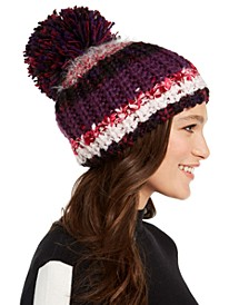 INC Colorblocked Mega-Pom Beanie, Created for Macy's