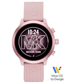 Access Gen 4 MKGO Blush Silicone Strap Touchscreen Smart Watch 43mm, Powered by Wear OS by Google™