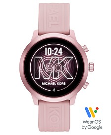 Michael Kors Access MKGO Blush Silicone Strap Touchscreen Smart Watch 43mm, Powered by Wear OS by Google™