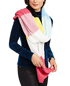 INC Twisted Rib Colorblocked Muffler Scarf, Created for Macy's