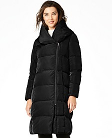 Signature Asymmetrical Pillow-Collar Puffer Coat