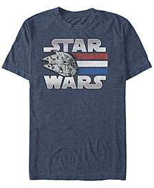 Men's Classic Patriotic Millennium Falcon Short Sleeve T-Shirt