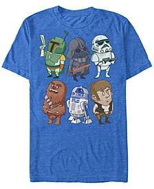 Men's Classic Cute Cartoon Characters Short Sleeve T-Shirt
