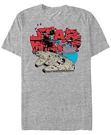 Star Wars Men's Classic Millennium Falcon Break Through Logo Short Sleeve T-Shirt