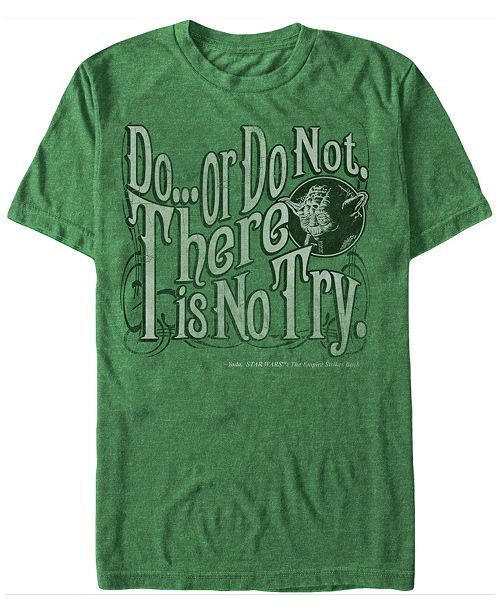 Star Wars Men's Classic Yoda Do Or Do Not Short Sleeve T-Shirt