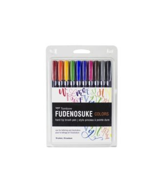 Tombow Fudenosuke Color Brush Pen Set, 10-Pack
