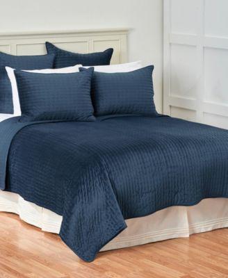 C&F Home Lapis Velvet King Quilt Set