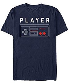 Men's Classic NES Player One Controller Short Sleeve T-Shirt