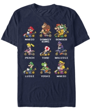 Nintendo Men's Mario Kart Character Choice Short Sleeve T-Shirt