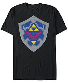 Men's The Legend of Zelda Simple Shield Short Sleeve T-Shirt