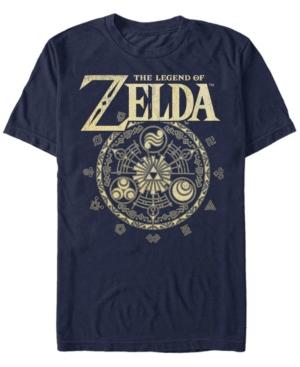 Nintendo Men's Legend of Zelda Magic Circle Vector Short Sleeve T-Shirt