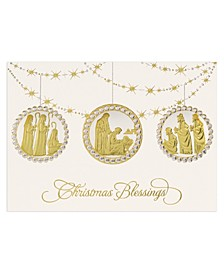 Nativity Ornaments Holiday Boxed Cards, 16 Cards and 16 Envelopes