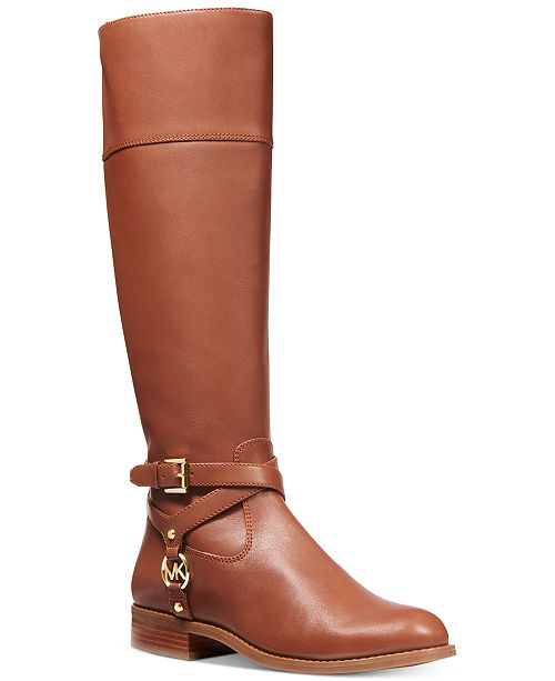 Michael Kors Preston Leather Tall Riding Boots