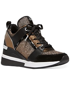 MICHAEL Michael Kors Georgie Trainer Wedge Sneakers