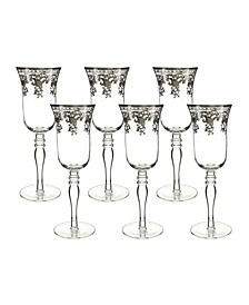 Flute Glasses with Stem 6 Piece