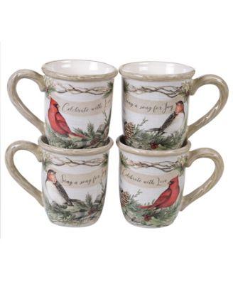 Holly and Ivy 4-Pc. Mug