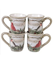 Certified International Holly and Ivy 4-Pc. Mug