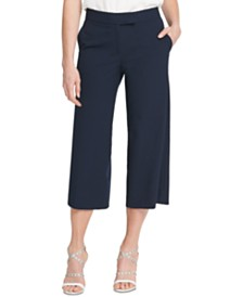 DKNY Wide-Leg Cropped Pants